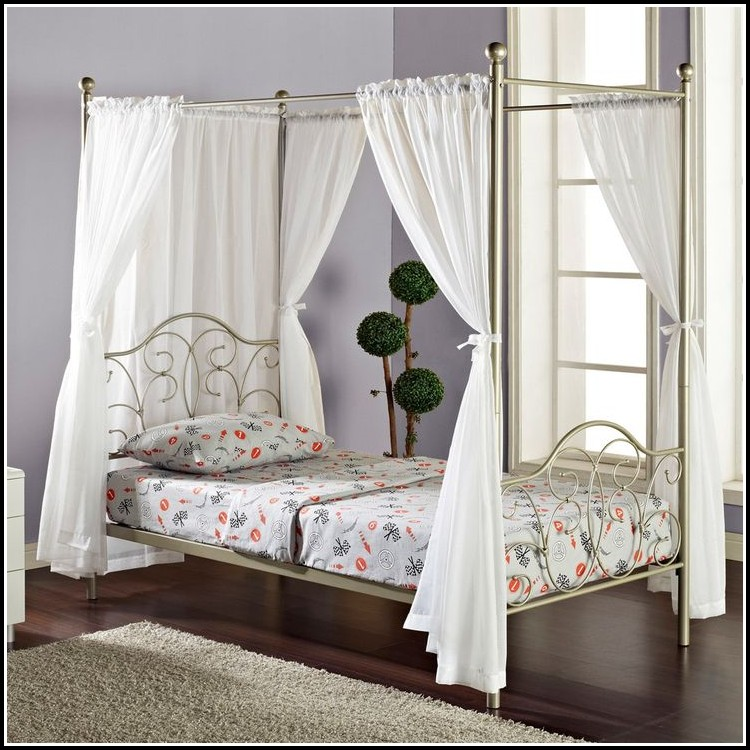 Twin Size Canopy Bed Curtains Curtains Home Design Ideas 25dovbaner32429