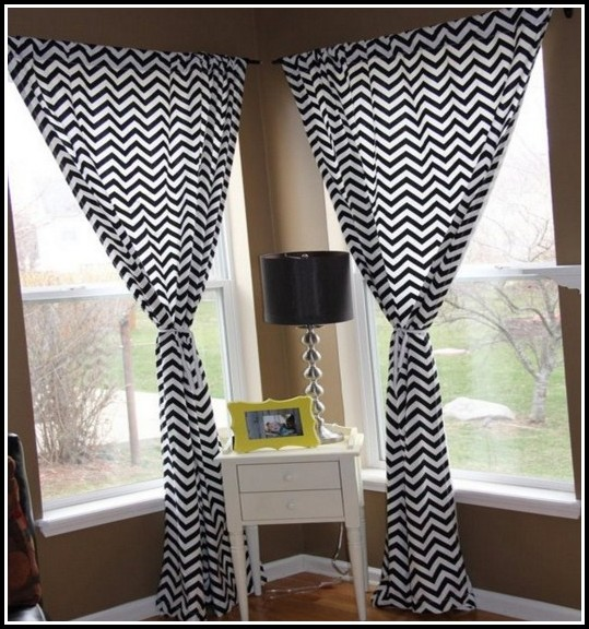 White And Black Voile Curtains
