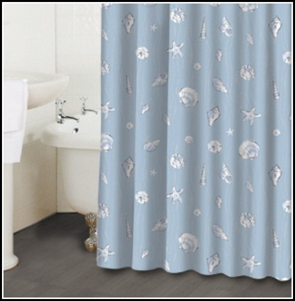 White And Blue Shower Curtains