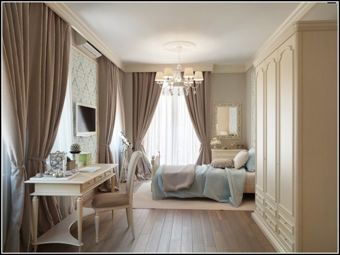 White And Chocolate Brown Curtains
