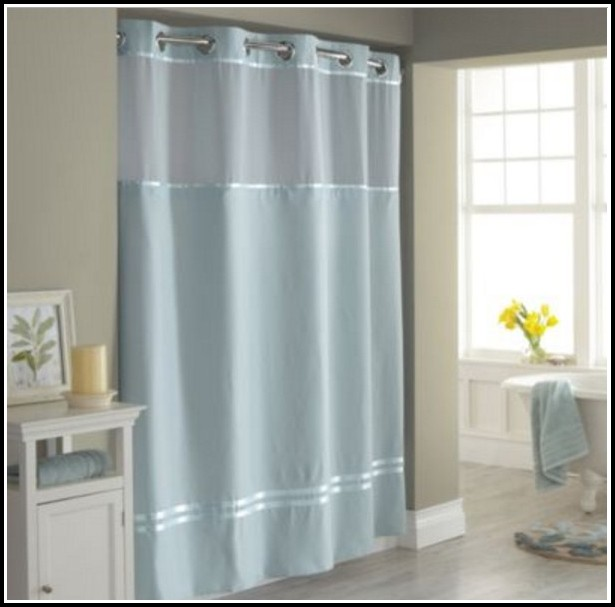 White And Grey Sheer Curtains