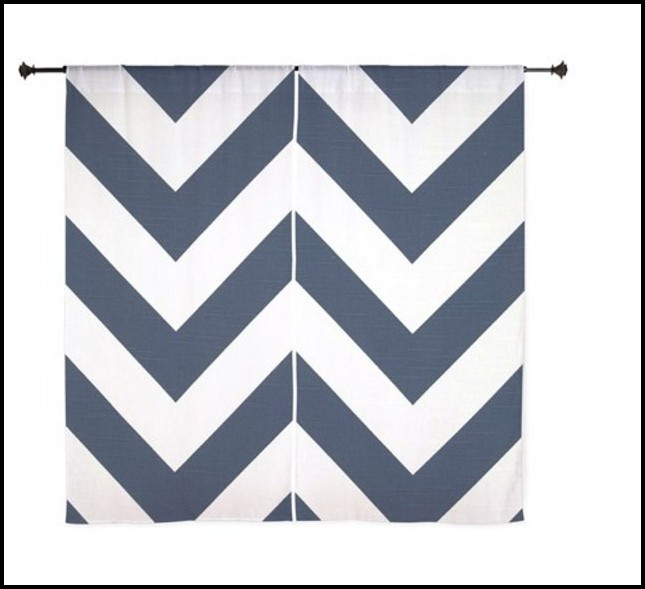 Navy And White Chevron Curtains Curtains Home Design