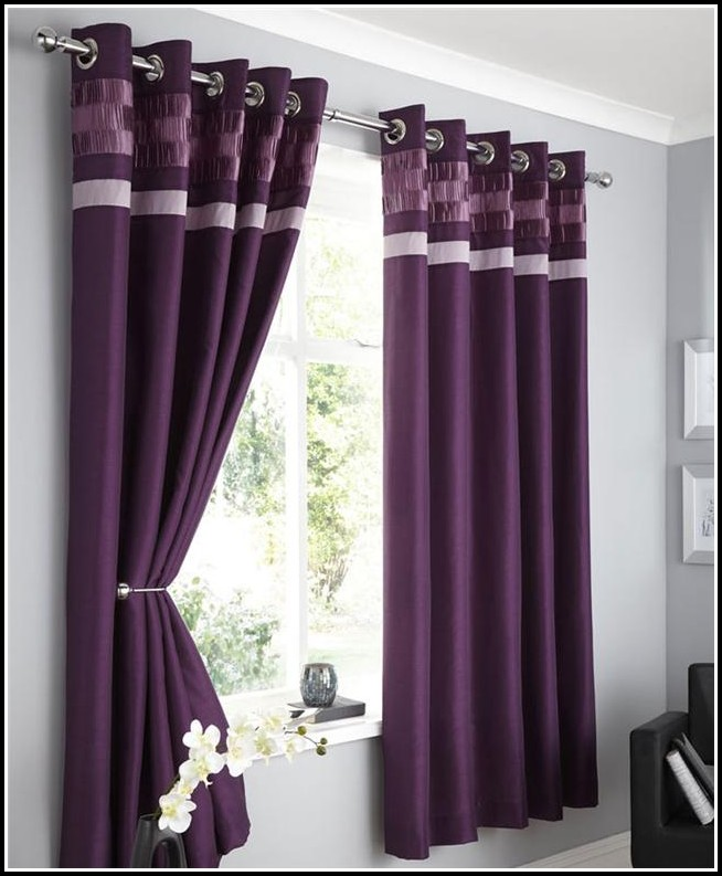 White And Purple Sheer Curtains