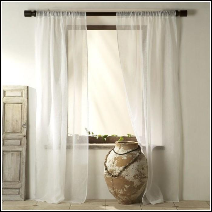 White Belgian Linen Curtain Panel