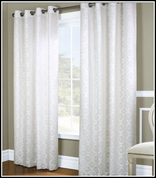 White Blackout Curtain Panels 84