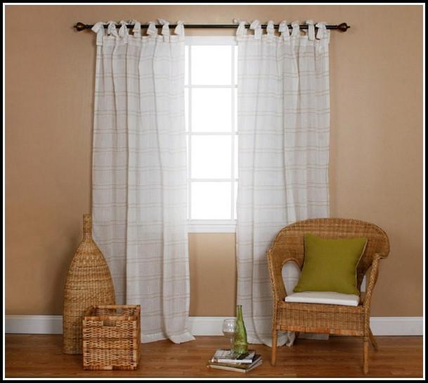 White Cotton Linen Curtain Panels