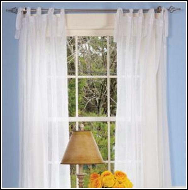 White Cotton Tab Top Curtains