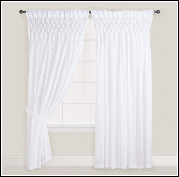 White Cotton Voile Curtain Panels