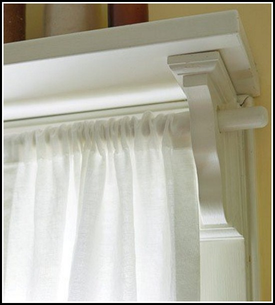 White Decorative Double Curtain Rod