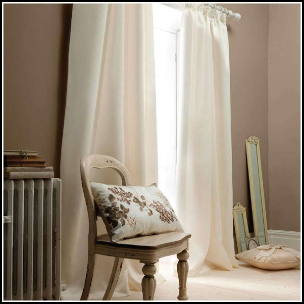 White Faux Silk Blackout Curtains