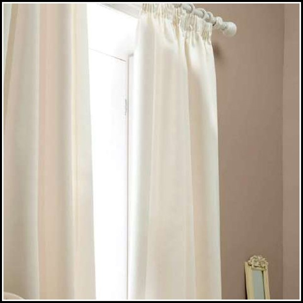 White Faux Silk Lined Curtains