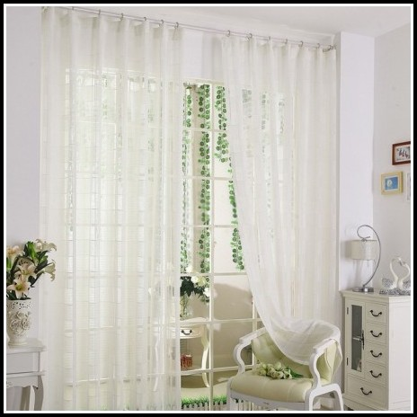 White Linen Curtains With Grommets