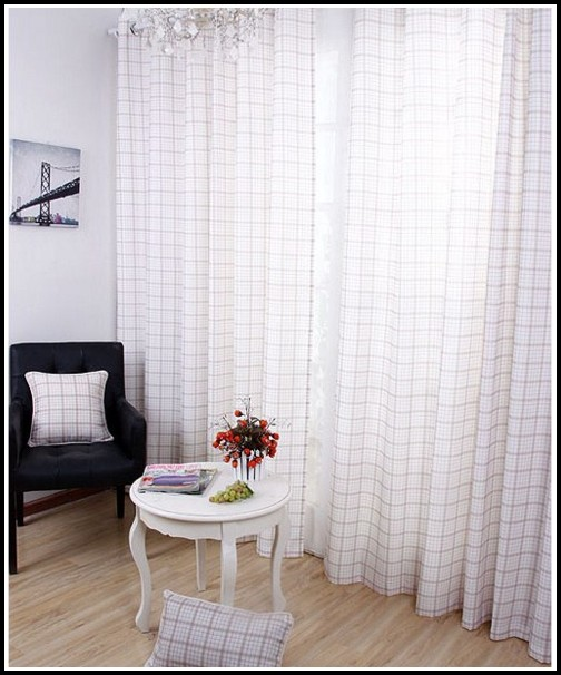 White Linen Lined Curtain Panels
