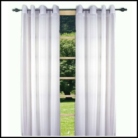 White Semi Sheer Curtain Panels
