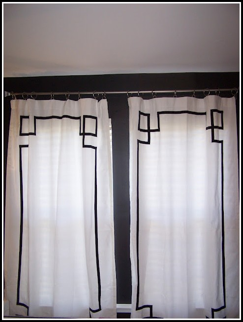 White Sheer Curtains With Black Trim