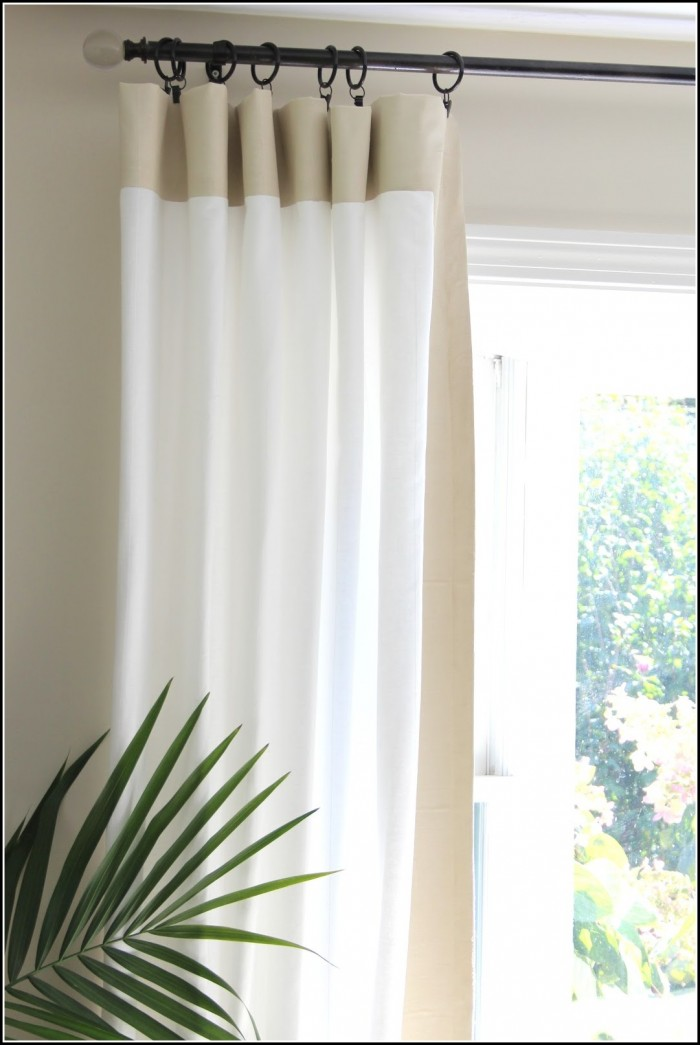 White Wood Curtain Rods Set