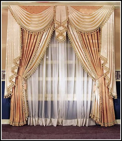 Window Treatments Blinds And Curtains Together