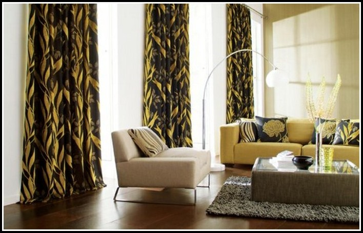 Yellow and brown kitchen curtains curtains home design for Yellow and brown kitchen ideas