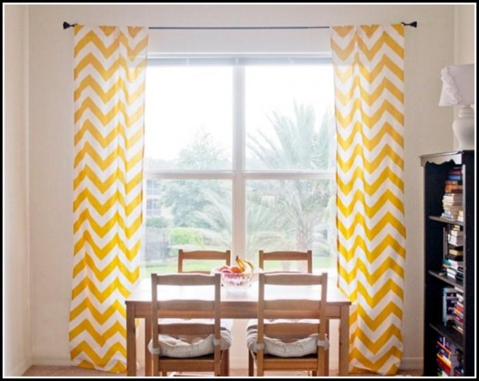 Yellow And Grey Chevron Shower Curtain
