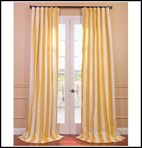 Yellow And White Vertical Striped Curtains Download Page