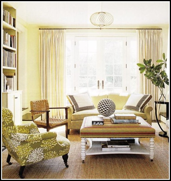Yellow Walls And Green Curtains