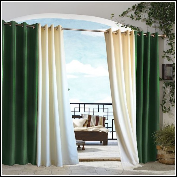 Belize Indoor Or Outdoor Grommet Window Curtain Panels