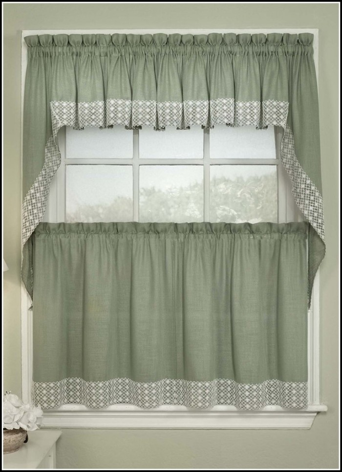 Black And Green Eyelet Curtains