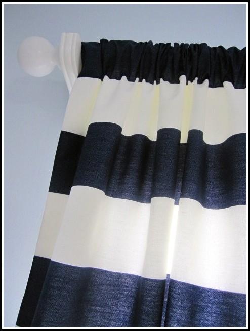 Navy White Horizontal Stripe Curtain Curtains Home Design Ideas Ojn3rj8pxw34216