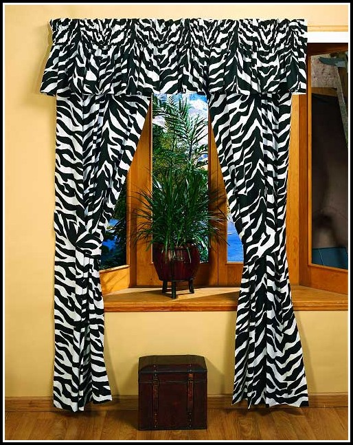 Black And White Leopard Print Curtains