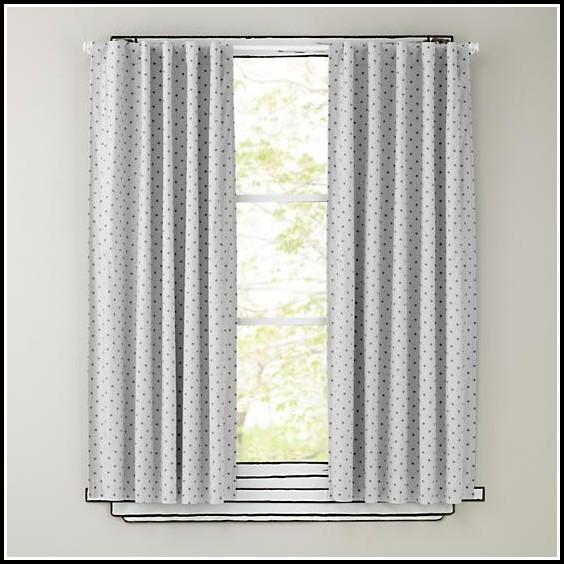 Black Polka Dot Curtain Panels