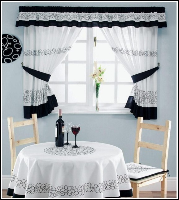 Black And Tan Kitchen Curtains