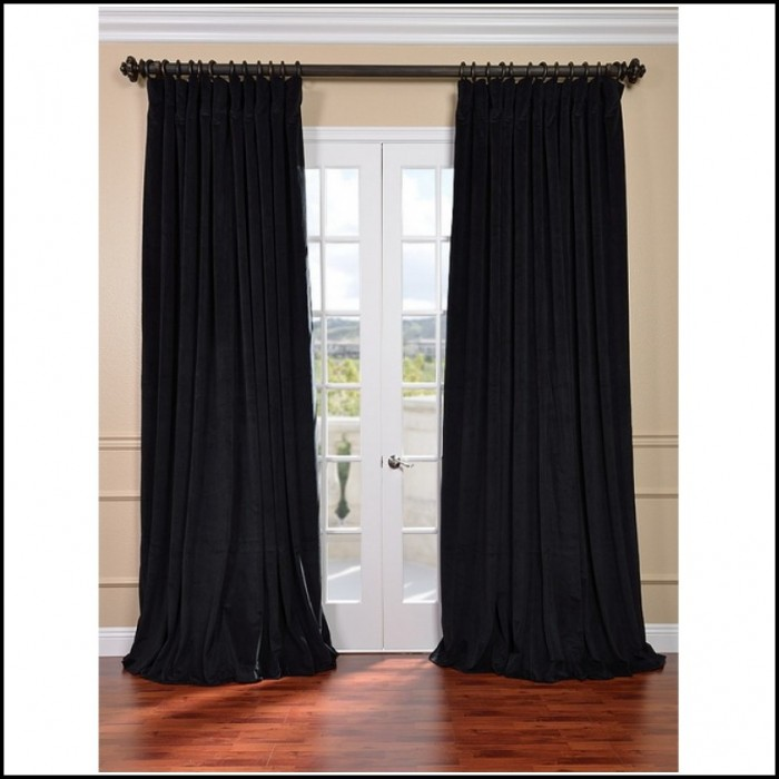 Black Velvet Curtains Drapes Panels Curtain Length