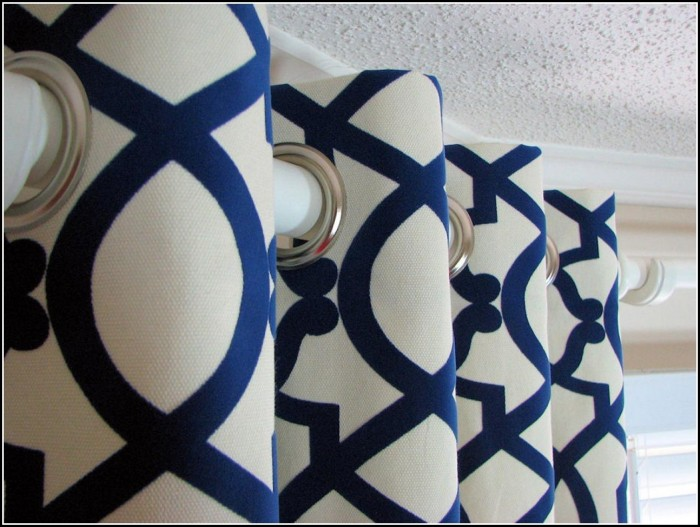 Blue And White Curtain Fabric