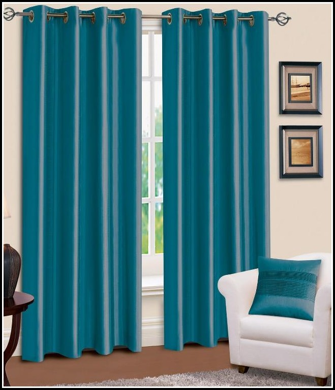 Blue Faux Silk Curtains Target