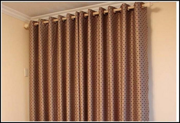 Brown Polka Dot Curtain Panels
