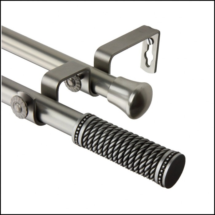 Smart Rod Double Curved Tension Shower Curtain Rod Brushed Nickel ...
