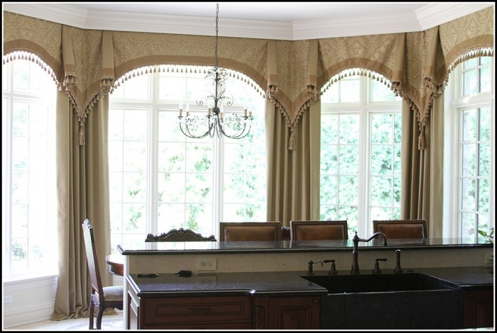 Curtains Around A Bay Window