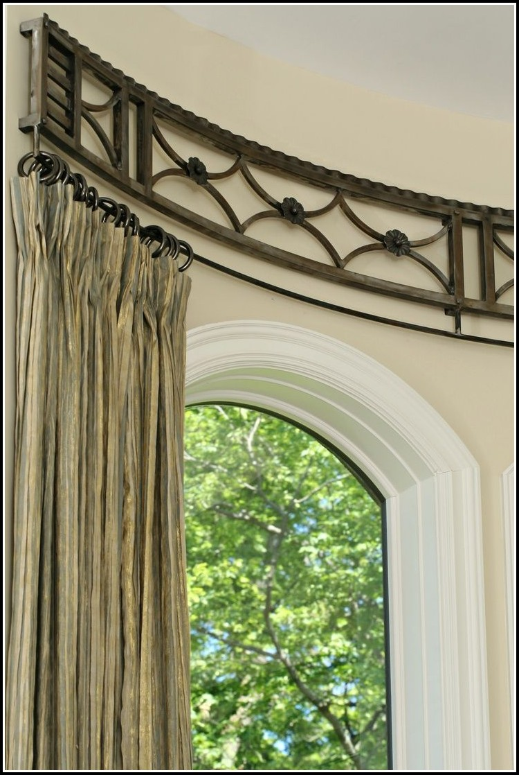 Curved curtain rod for bay window download page home for Curved bay window
