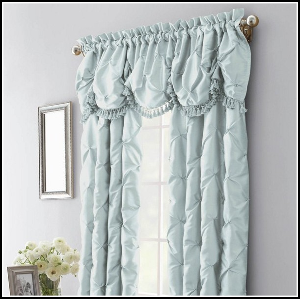 Dark Blue Faux Silk Curtains