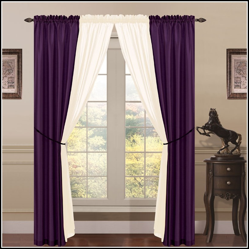 Dark purple curtain panels curtains home design ideas ggqnx2jnxb37747 for Living room with purple curtains