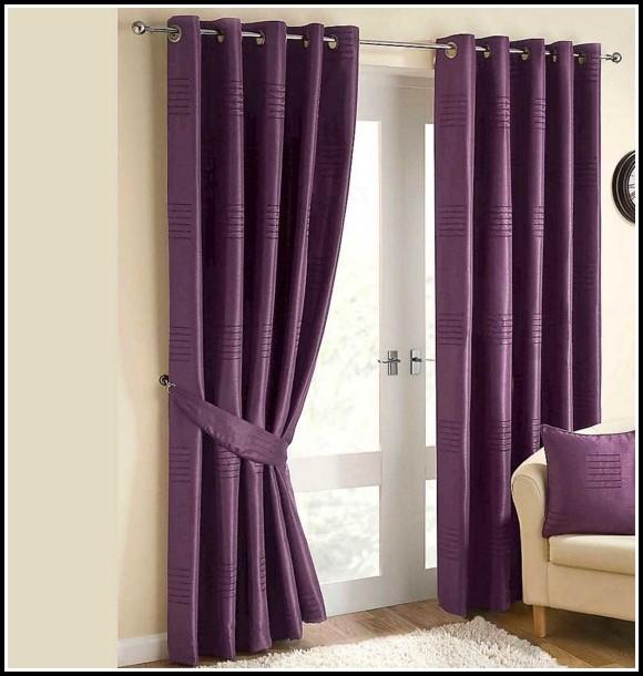 Dark Purple Room Darkening Curtains