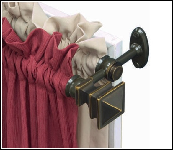 Double Bay Window Curtain Rod Set