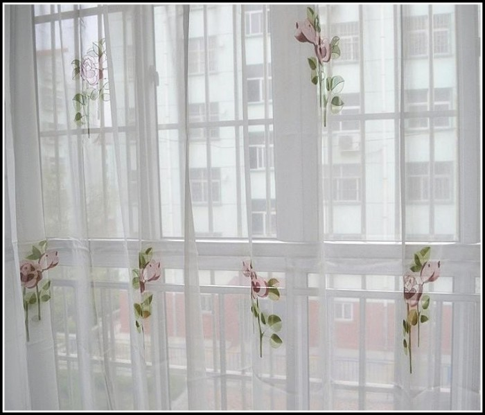 Double Rod Pocket Sheer Curtains
