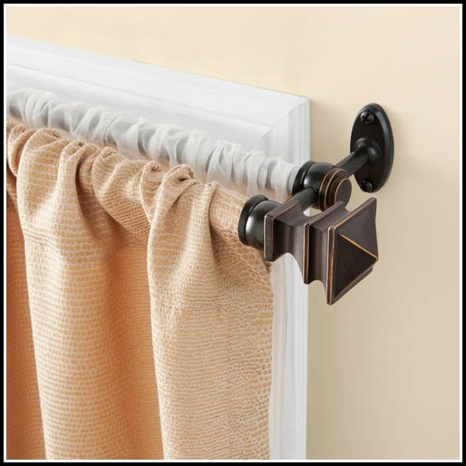 Double Rod Shower Curtain Rod Curved