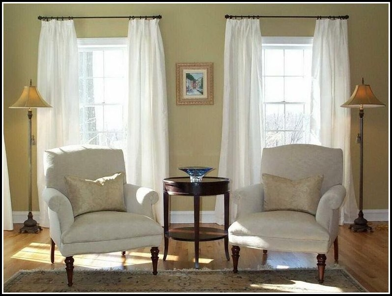 Extra Long White Linen Curtains