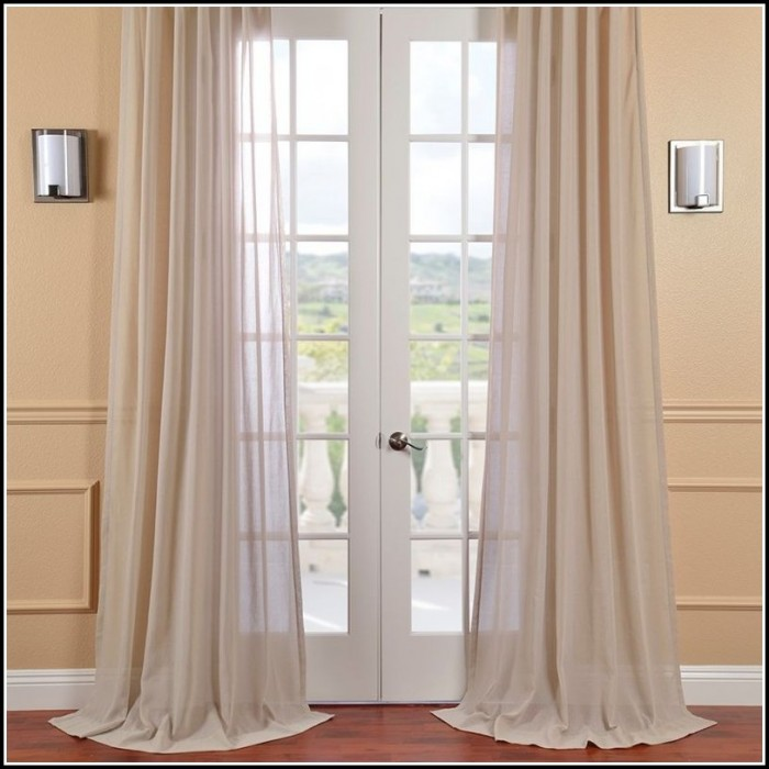Faux Linen Sheer Curtain Panel