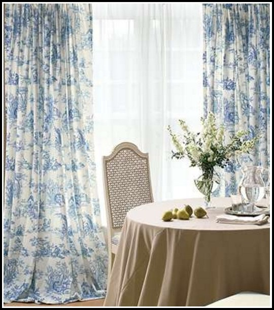 Gingham Curtains Blue And White