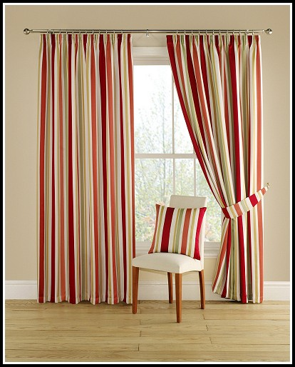 Gold And Red Damask Curtains