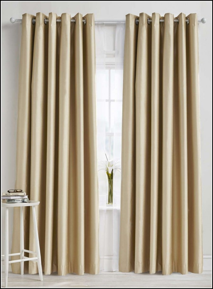Gold Faux Silk Eyelet Curtains