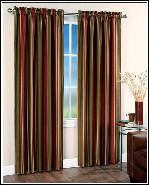 Gold Red And Brown Curtains